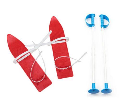 Дитячі лижі KIDS SKI, червоні, 6104КРАСН, фото 2