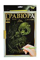 Творческий набор Гравюра Панды с рамкой А 4 Данко Тойс, фото 1