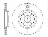 Тормозной диск передний FIAT DOBLO (119),LINEA (323) (2009г-Выпускается) ,631611