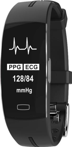 Умный фитнес браслет трекер Lemfo P3 Plus с ЭКГ и тонометром с защитой от пыли и влаги черный