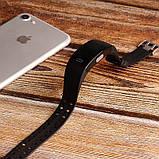 Умный фитнес браслет трекер Lemfo P3 Plus с ЭКГ и тонометром с защитой от пыли и влаги черный, фото 6