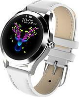 Умные смарт часы King Wear KW10 с защитой от воды (Белый)