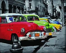 "Картина по номерам и алмазная мозаика 2 в 1. Rainbow Art ""Парад машин"" GZS1081-RA"