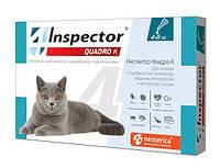 Инспектор Квадро К (Inspector) капли для кошек,1 пипетка 4-8 кг
