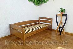 """Ліжко односпальне кутова з масиву дерева від виробника """"Березня"""" (світлий дуб)"""