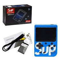 """Портативна консоль """"Retro FC SUP Game Box 400 в 1 синя"""