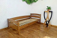 """Кровать подростковая из массива дерева от производителя """"Марта"""" (светлый дуб)"""