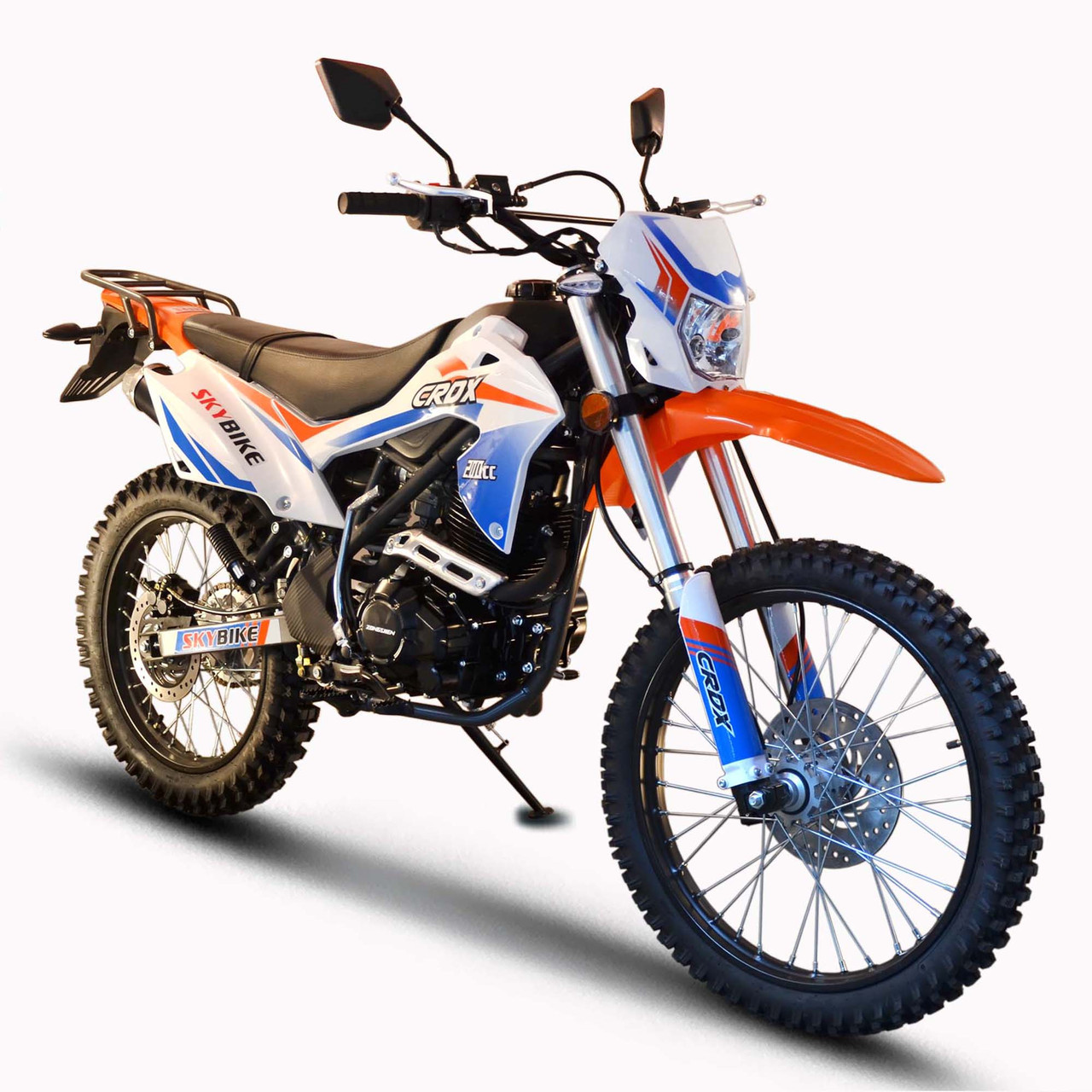 Мотоцикл Skybike CRDX 200 (21-18) Бело-оранжевый