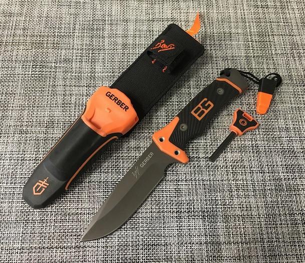 Охотничий нож Gerber 6581112А с огнивом и свистком / 25см / АК-209