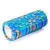 Массажный валик, цилиндр, роллер для спорту йоги и пилатеса 32.5 х 14 см Синий