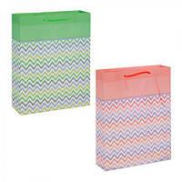 """Пакет подарочный РР """"Волна"""" R15946, 22*18*7.5 см, Подарочные пакеты, Пакеты для подарков бумажные"""