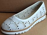 Балетки летние кожаные от производителя модель БР5001-1М, фото 2