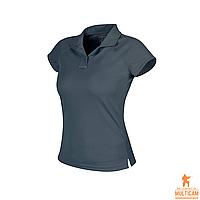Футболка поло женская Helikon-Tex® Women's UTL® Polo Shirt TopCool Lite - Shadow Grey, фото 1