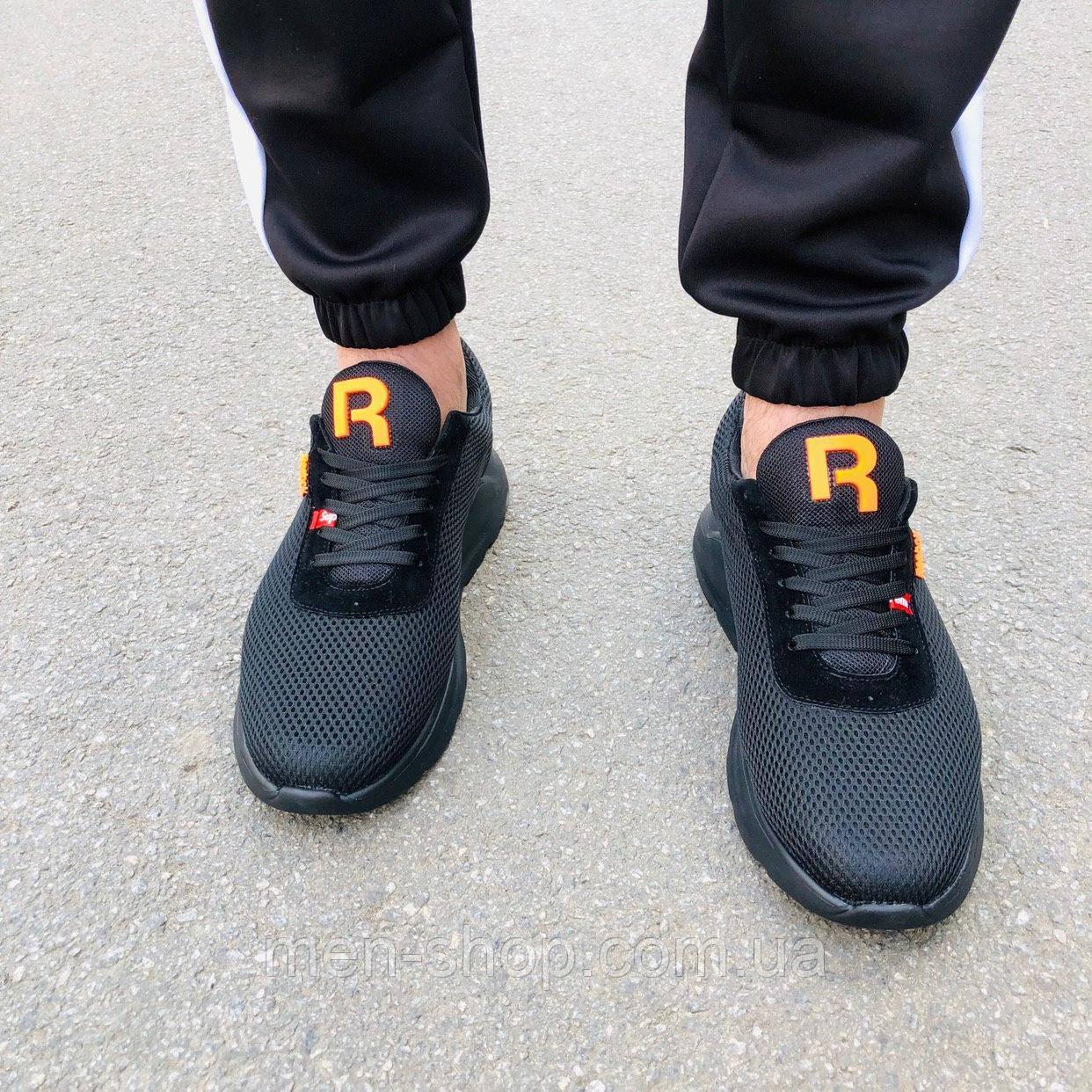 Мужские черные кроссовки в стиле Reebok