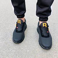 Мужские черные кроссовки в стиле Reebok, фото 1