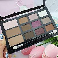 Палитра для макияжа Malva Cosmetics Pro Eyeshadow & Countour & Highlight М493, 3 цвета