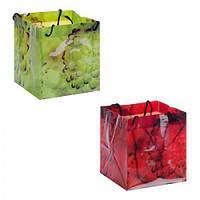 """Пакет подарочный РР для цветов """"Dahlia"""" 17х15.5х15.5см, пакет для подарка, полиэтиленовый пакет сувенирный,"""
