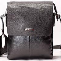 Мужская сумка на плече черного цвета