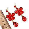 Комплект SONATA (Кольє + сережки), червоні камені, 63080 (1), фото 4