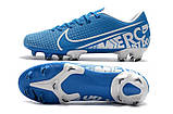 Бутсы Nike Mercurial Vapor XII FG blue, фото 4
