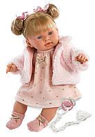 Детская Игровая Говорящая Испанская Кукла с соской для девочек Александра 42см Llorens Julia Llorona из винила
