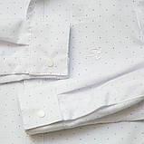 Рубашка для мальчика с длинным рукавом на кнопках SmileTime Points, белая, фото 3