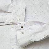Рубашка для мальчика с длинным рукавом на кнопках SmileTime Points, белая, фото 4
