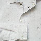 Рубашка для мальчика с длинным рукавом на кнопках SmileTime Points, белая, фото 5