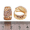 Серьги Xuping из медицинского золота, белые фианиты, позолота 18К, 24273  (1), фото 2