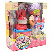 Кукла функциональная музыкальная «Шеф-повар» с аксессуарами, пьет, писает (LD68011A)