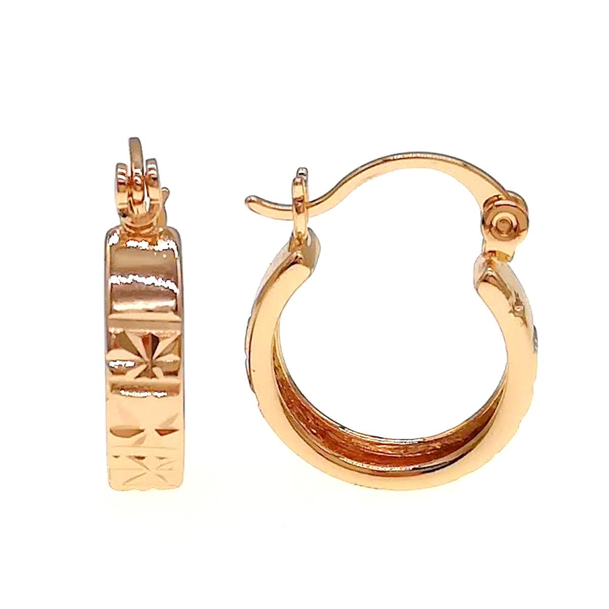 Серьги Xuping из медицинского золота, позолота 18К, 24309       (1)