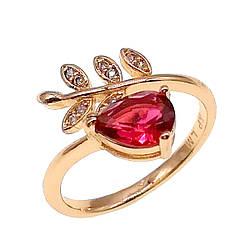 Кольцо Xuping из медицинского золота, красный фианит, позолота 18K, 11810       (Безрозмірна)