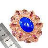 Брошка SONATA, разноцветные фианиты, позолота 18K,  95946             (1), фото 3