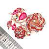 """Брошка SONATA """"Роза"""",  разноцветные фианиты, позолота 18K, 95964                                           (1), фото 3"""