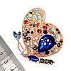 """Брошка SONATA """"Махаон"""",  разноцветные фианиты, позолота 18K,  95967                                     (1), фото 3"""