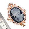 """Брошка SONATA """"Камея"""",  белые фианиты, позолота 18K,  95972                                           (1), фото 2"""