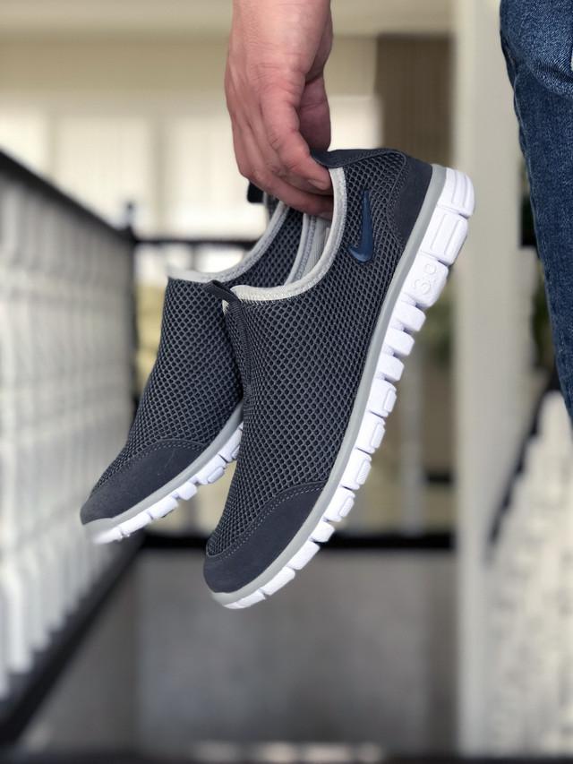 Кроссовки Nike Free Run 3.0 сетка, серые