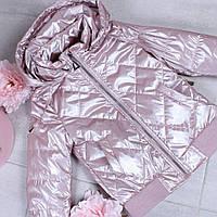 Куртка Для Девочки Верхняя Детская Одежда Kids Модель M-256 Цвет Розовый Размер 5