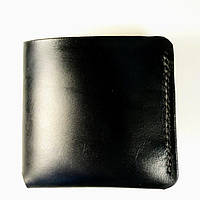 Кожаный мужской кошелек/шкіряний гаманець.Тонкий мини кошелек черный, портмоне, бумажник.