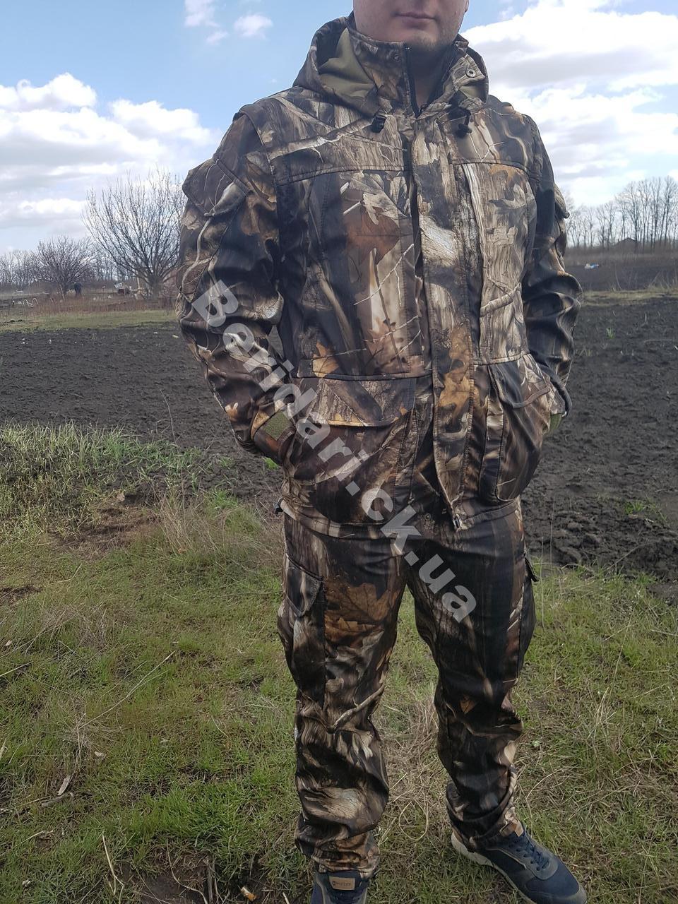 Демісезонний камуфляжний костюм полукомбенизоном для полювання дубок