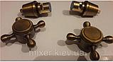 Ручки (вентилі) для змішувача бронза 7-052, фото 6