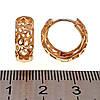 Серьги Xuping из медицинского золота, позолота 18К, 24306       (1), фото 3