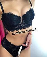 Кружевное нижнее женское белье, бюст Анжелика размер 75С , черный цвет