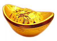 Чаша богатства 25х11х14см.