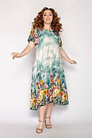 Красивые летние платья женские длинные размеры 54-58