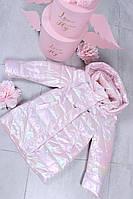 Куртка Для Девочки Верхняя Детская Одежда Kids Модель M-280 Цвет Розовый Размер 7