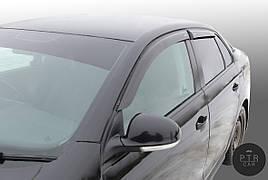 Дефлектори вікон (вітровики) клеючі / накладні Skoda Yeti 2009-> 4шт (ANV)