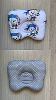 Двухсторонняя ортопедическая подушка для новорождённого