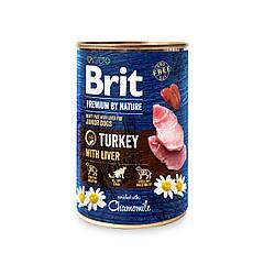 Консерва Brit Premium by Nature Бріт Преміум індичка з печінкою 800 г