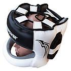 Шлем боксерский с бампером FIREPOWER FPHG6 Black/White, фото 3
